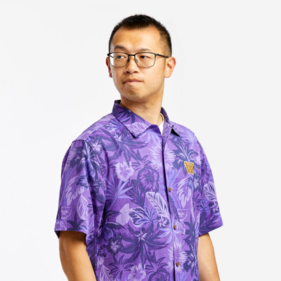 UW Tommy Bahama Mens Fuego Floral Button Down