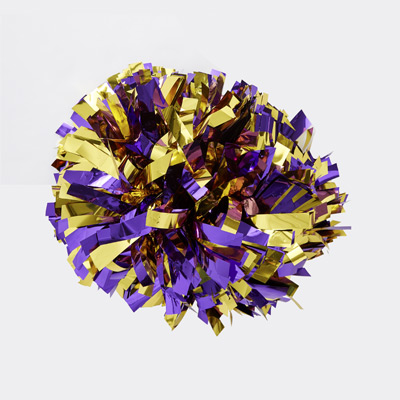 Cheerleader Pom Purple and Gold