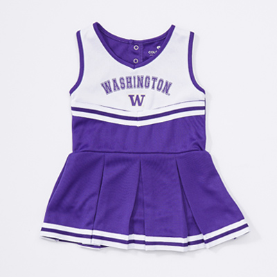 Colosseum Baby Girls Arch Washington Cheer Set