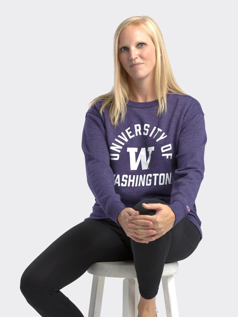 League Women's U of W Victory Crewneck Sweatshirt