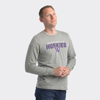 47 Brand Men's Huskies Traction Rival Long Sleeved Tee