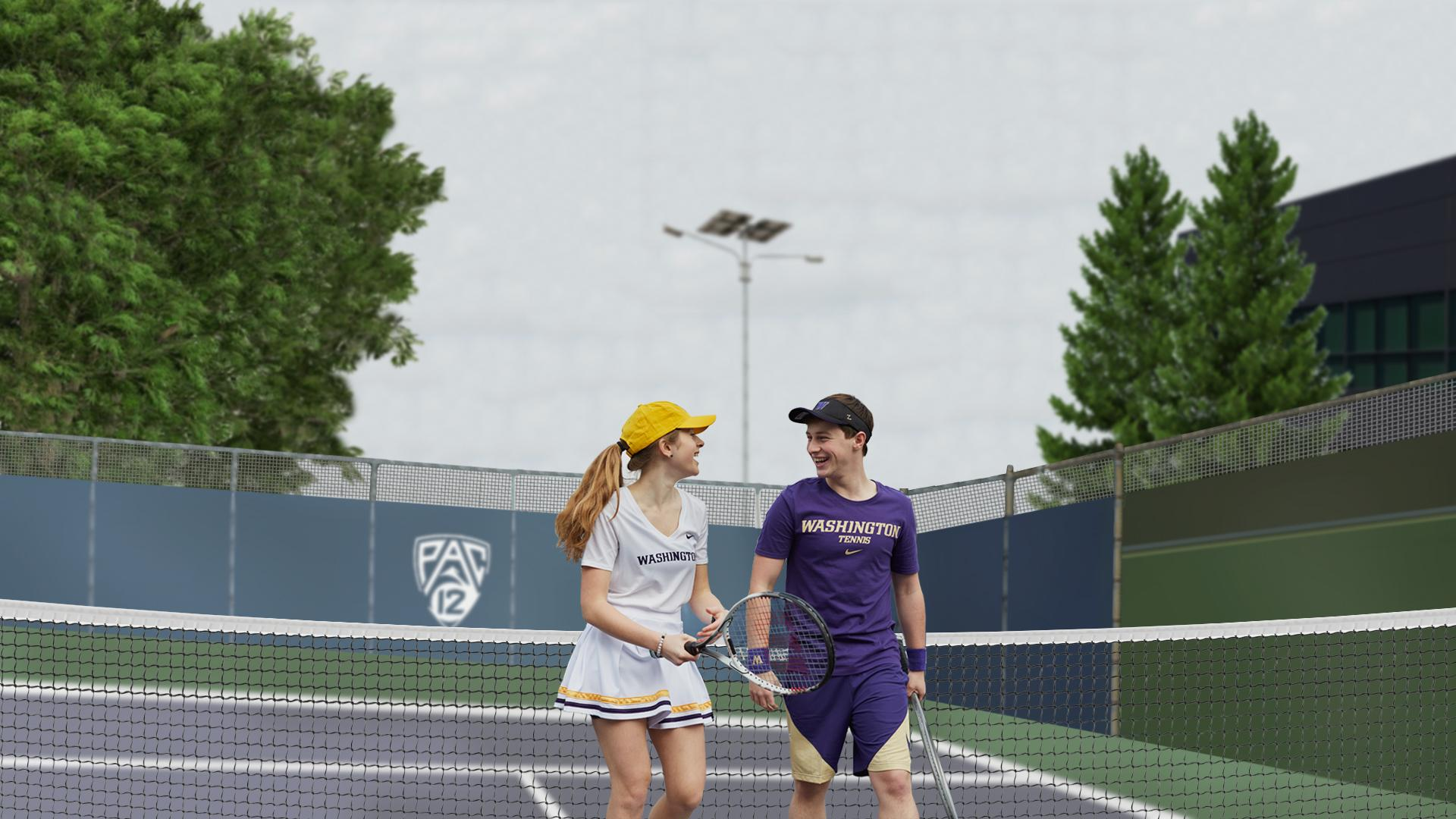 Fall In Love With UW Tennis Gear for Doubles Matches or Double Dates