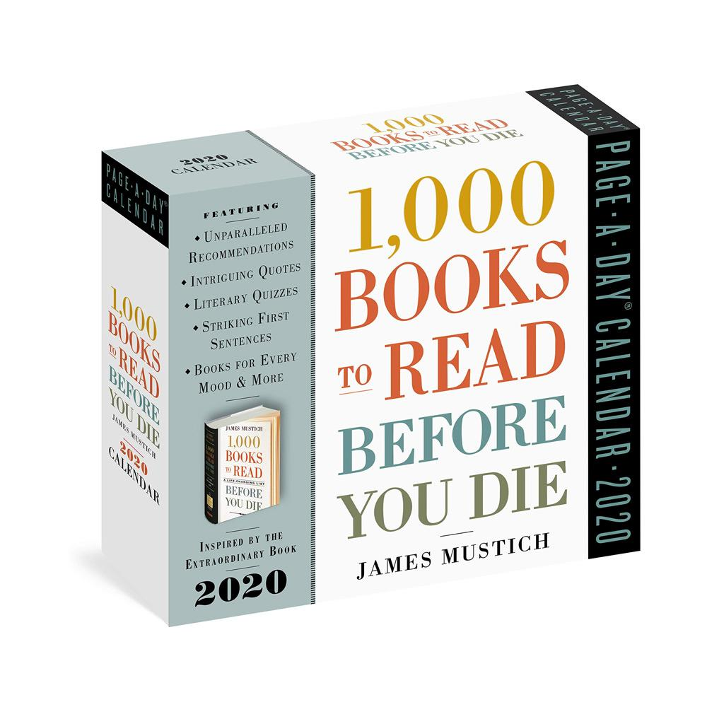 2020 1,000 Books to Read Before You Die Page-A-Day Calendar Front