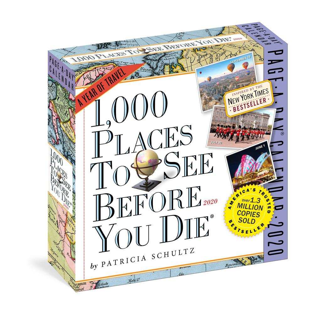 2020 1,000 Places to See Before You Die Page-A-Day Calendar – Front