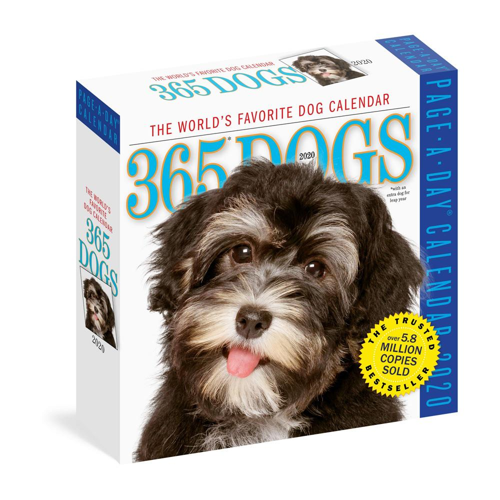 2020 365 Dogs Page-A-Day Calendar Front