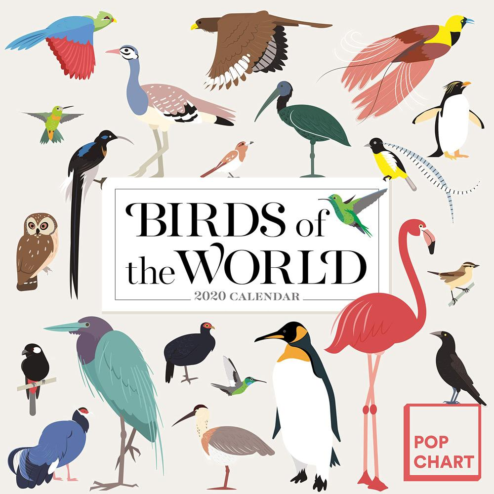 2020 Birds of the World by Pop Chart Lab Wall Calendar Front