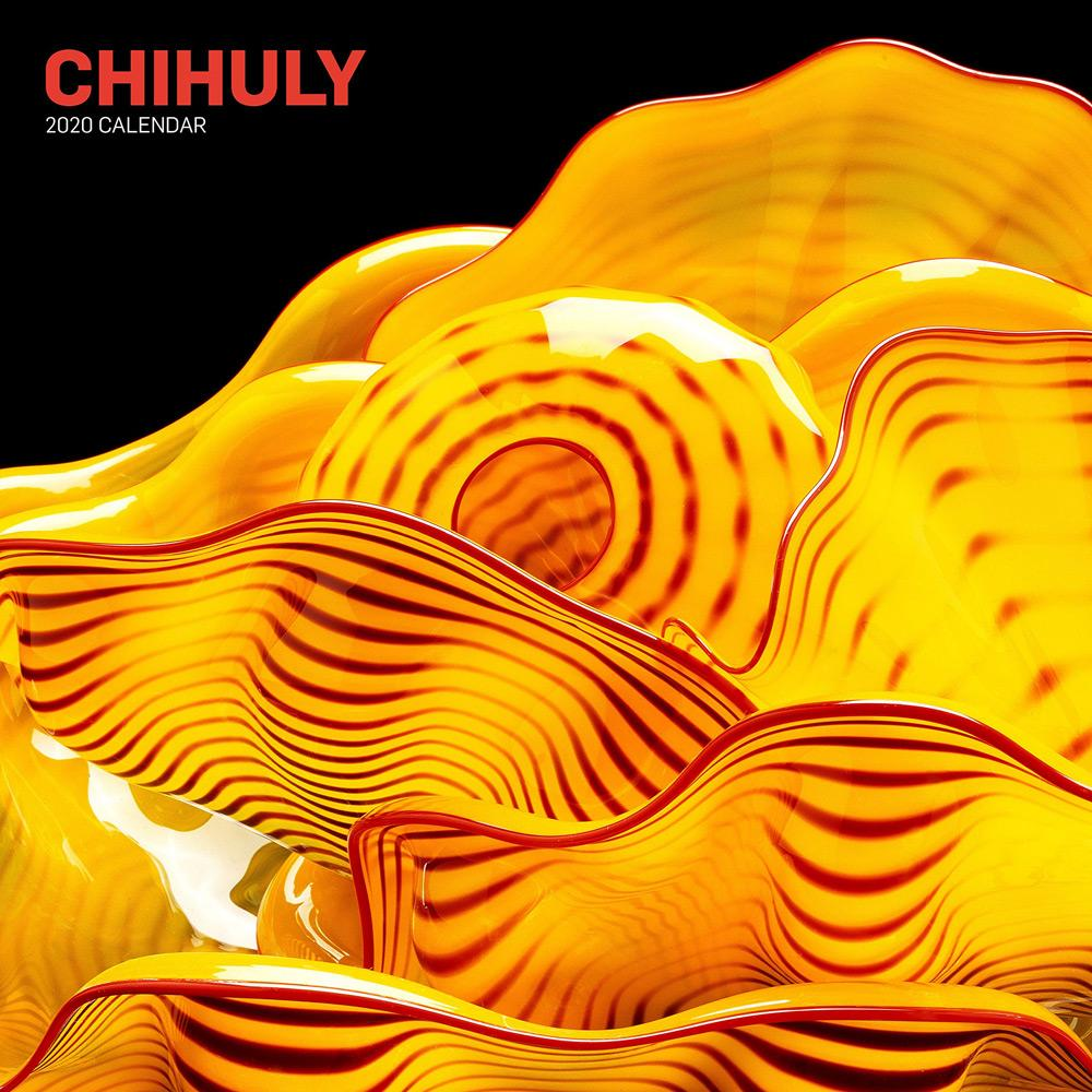 Chihuly Wall Calendar Front Cover