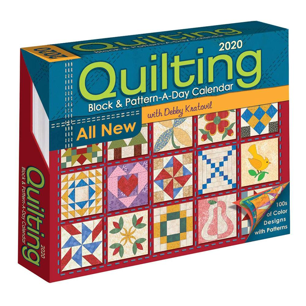 2020 Quilting Block and Pattern-a-Day Calendar Front