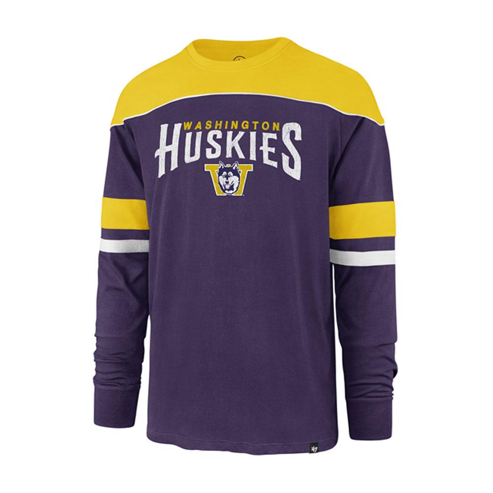 47 Brand Men's Huskies Win Streak Long Sleeved Tee – Purple