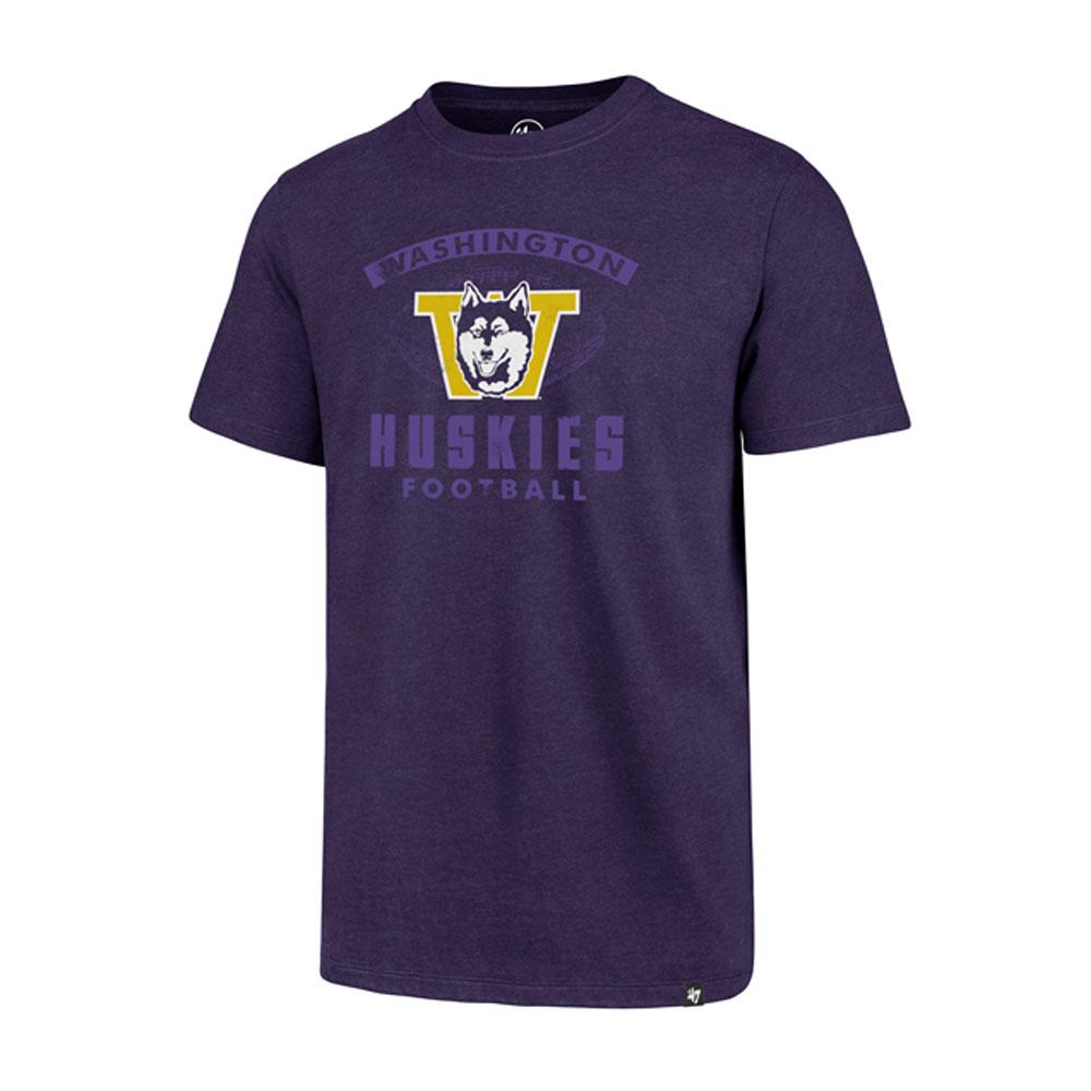 47 Brand Men's Vault Dog W Football Showdown Club Tee – Purple