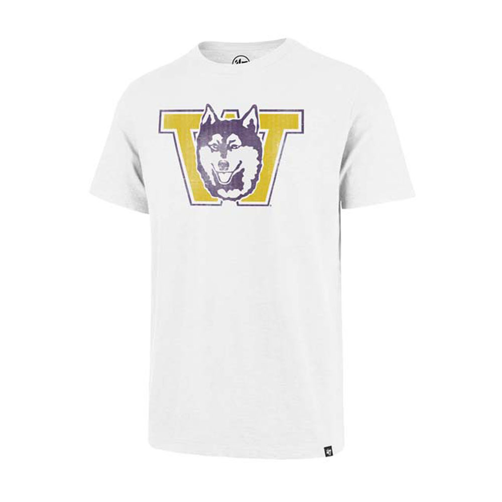 47 Brand Men's Vault Dog W Grit Vintage Scrum Tee – White