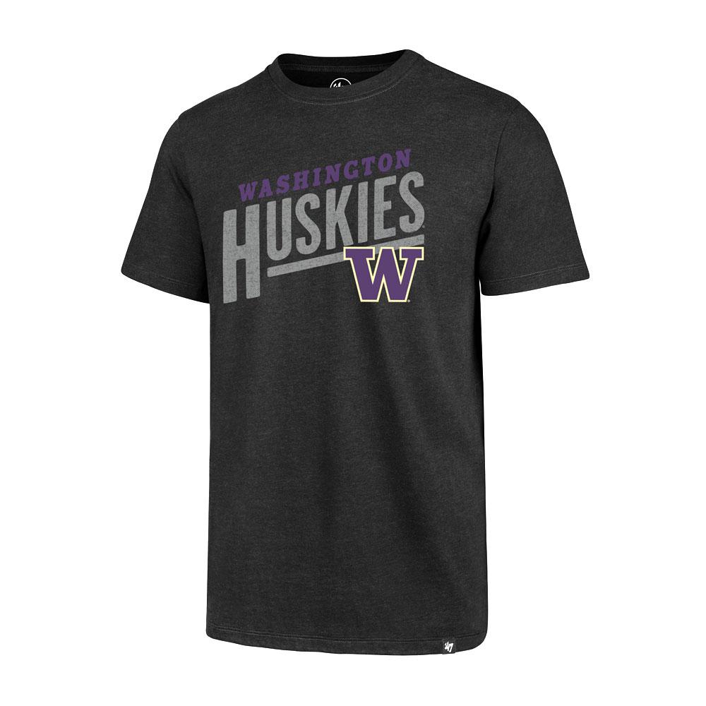 47 Brand Men's Washington Huskies Sandlot Club Tee – Black