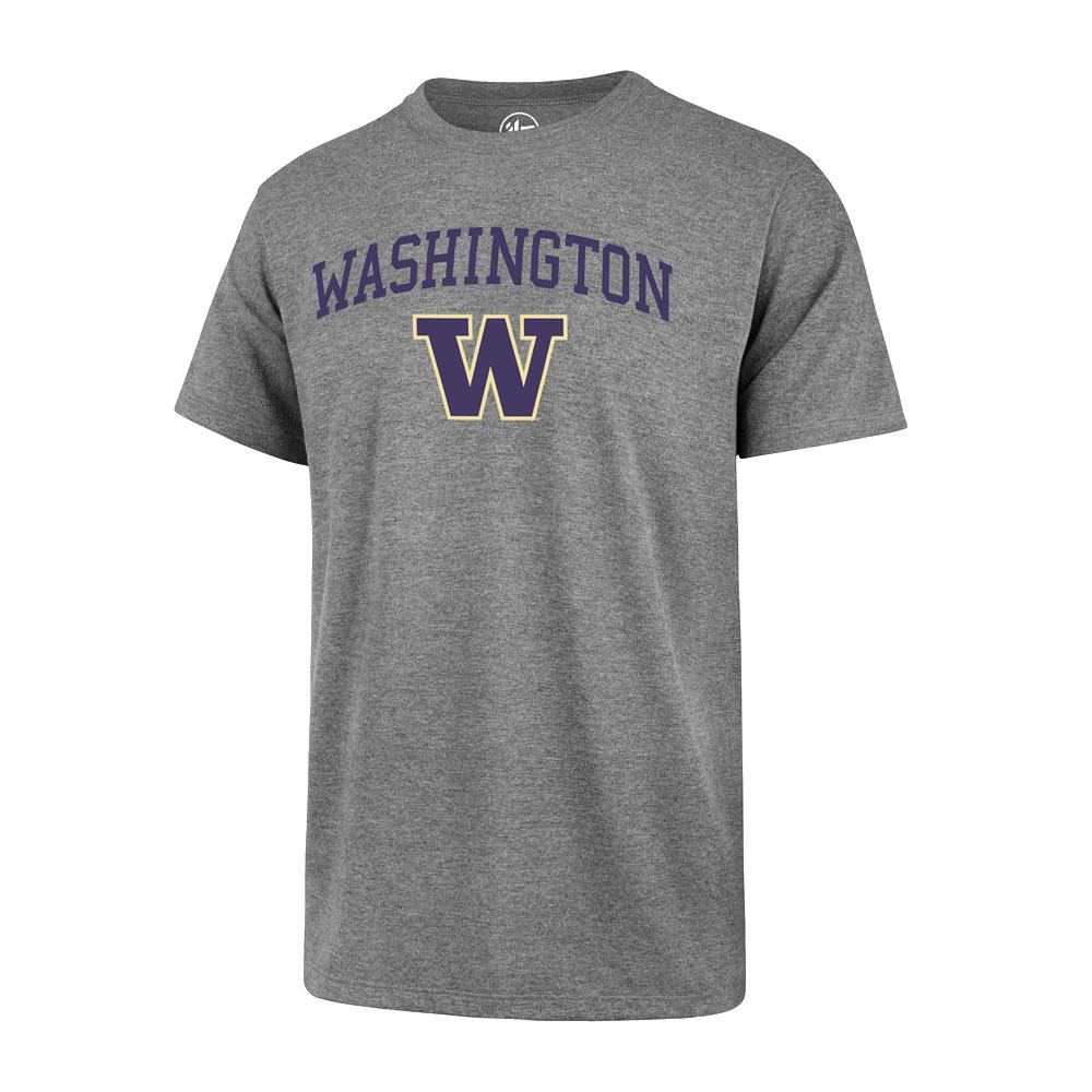 47 Brand Men's Washington Over W Club Tee – Gray