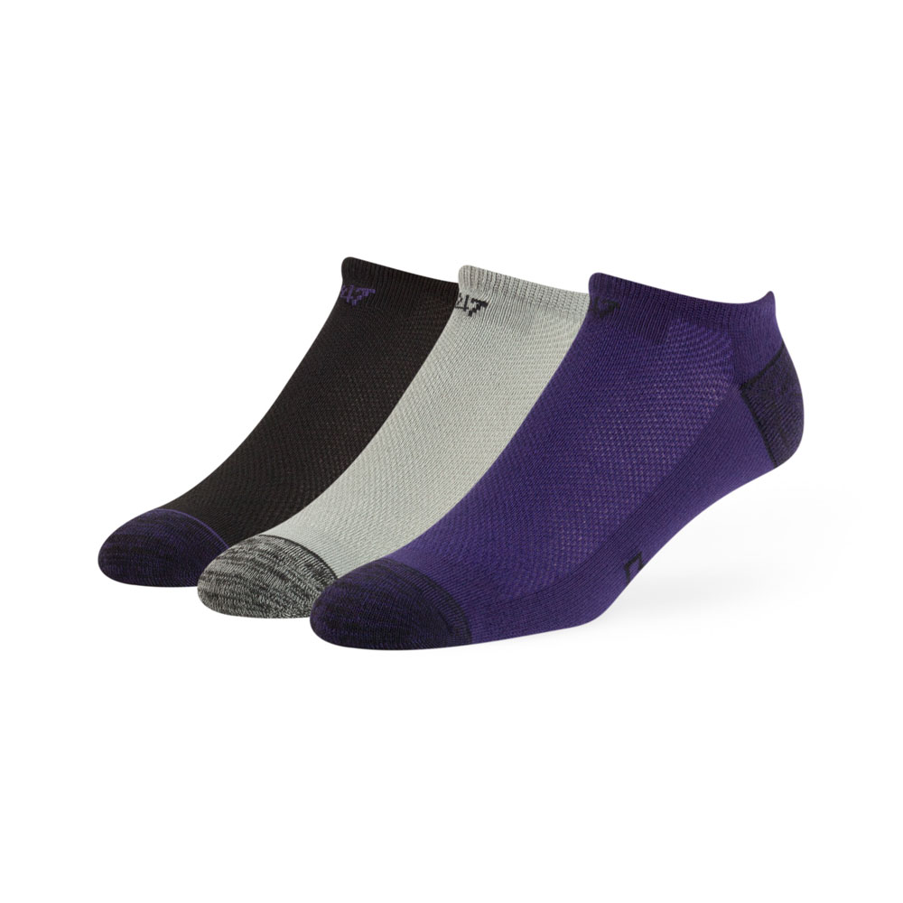 47 Brand Unisex W Blade Three Pack No Show Socks – Front