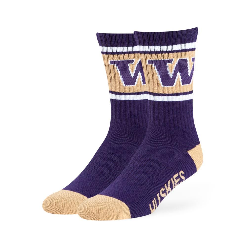 47 Brand Unisex W Huskies Duster Crew Socks