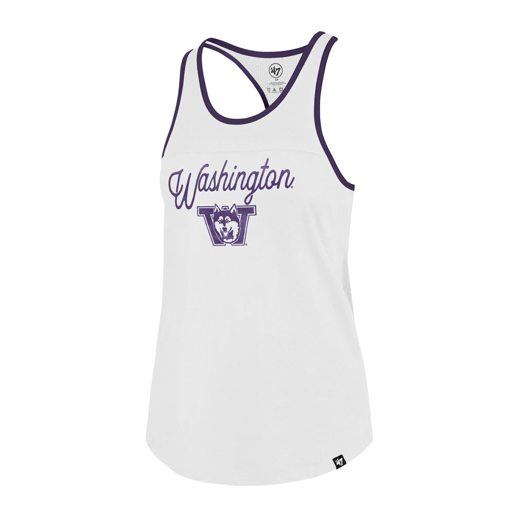 47 Brand Women's Washington Vault Dog Team Up Tank – White