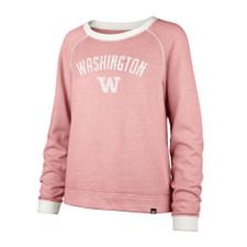 47 Brand Washington W Fade Out Boyfriend Crew Fade Out Fleece – Pink