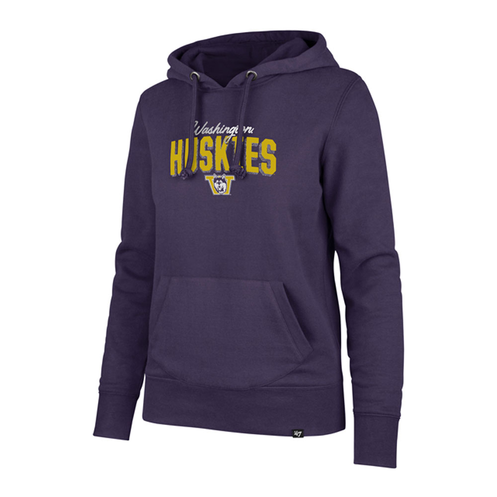 47 Brand Women's WA Huskies Vault MVP Headline Hoodie – Front