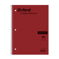 Ampad 1 Subject College Spiral 3 Hole Notebook
