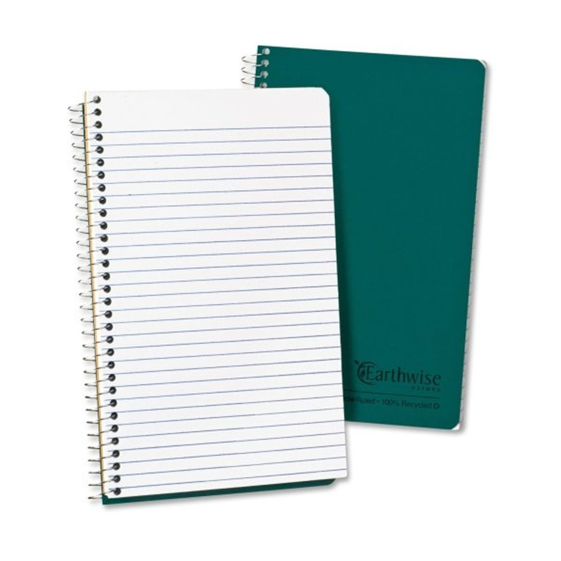 """Ampad Green 8""""x5"""" Recycled Narrow Spiral Notebook"""