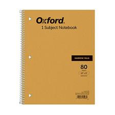 "Ampad Tan 10""x8"" 1 Subject Narrow Spiral Notebook"
