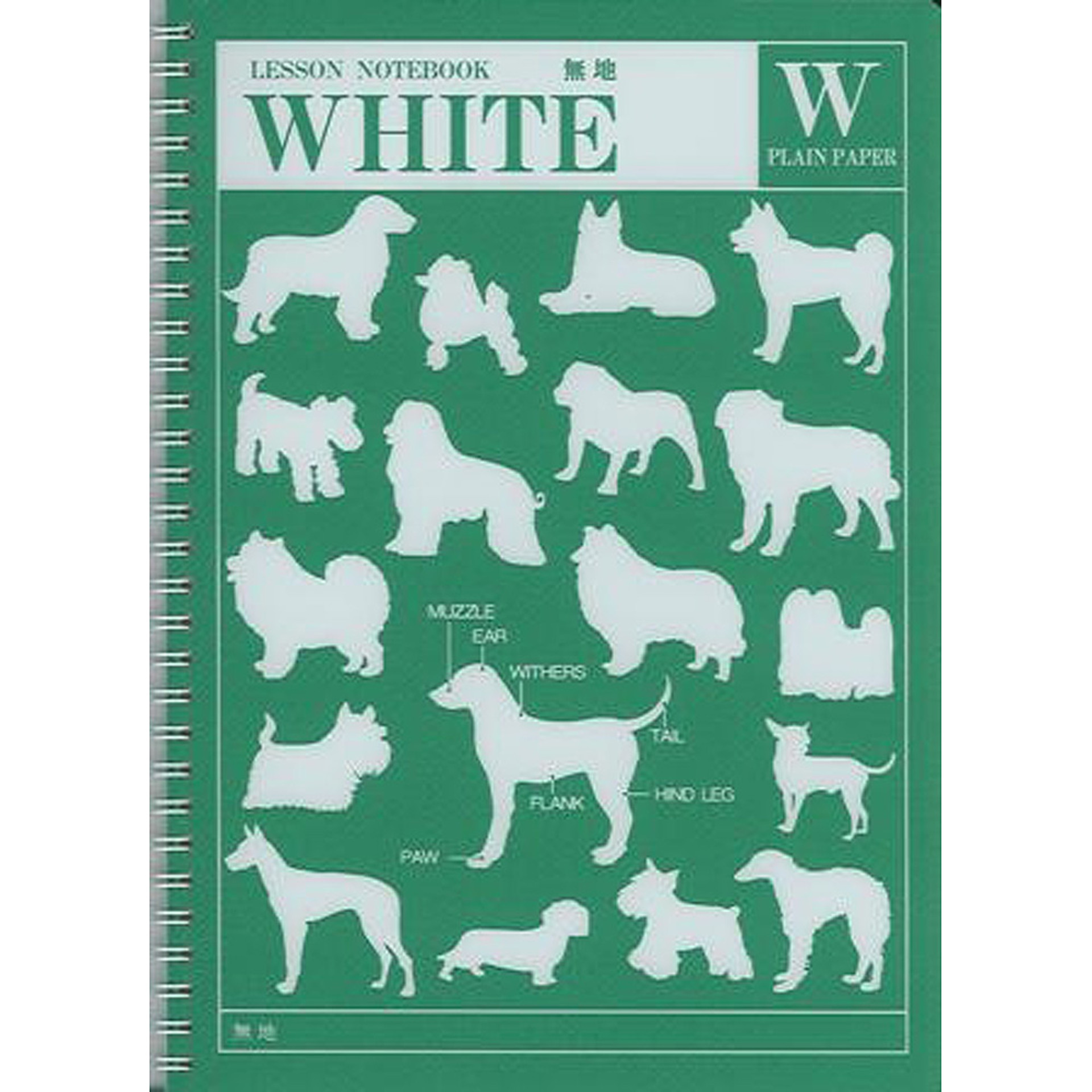 """Apica Green White 10""""x7"""" Blank Spiral Lesson Notebook 36ct"""