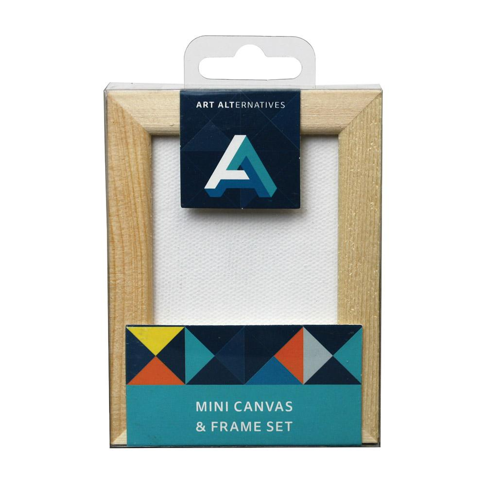 Art Alternatives 2.5 X 3.5 Mini Canvas And Pine Frame