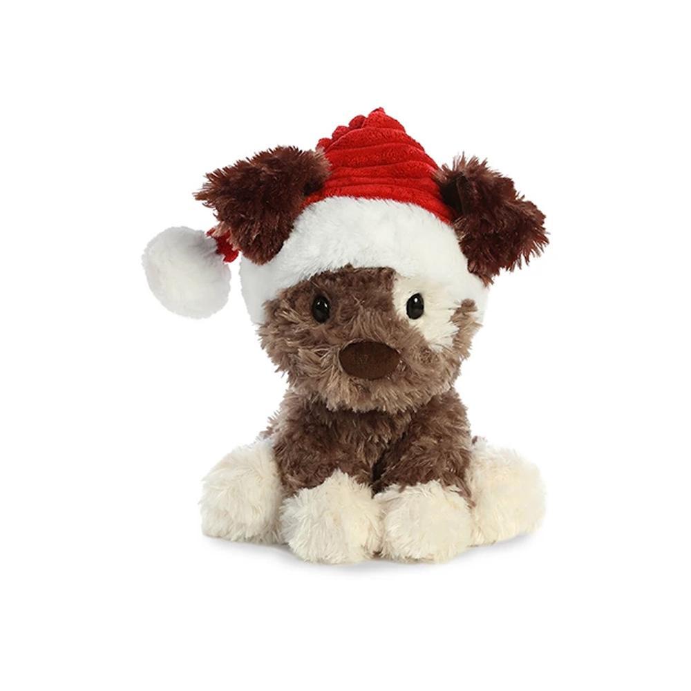 "Aurora Buster Holiday Puppy Plush 9.5"""