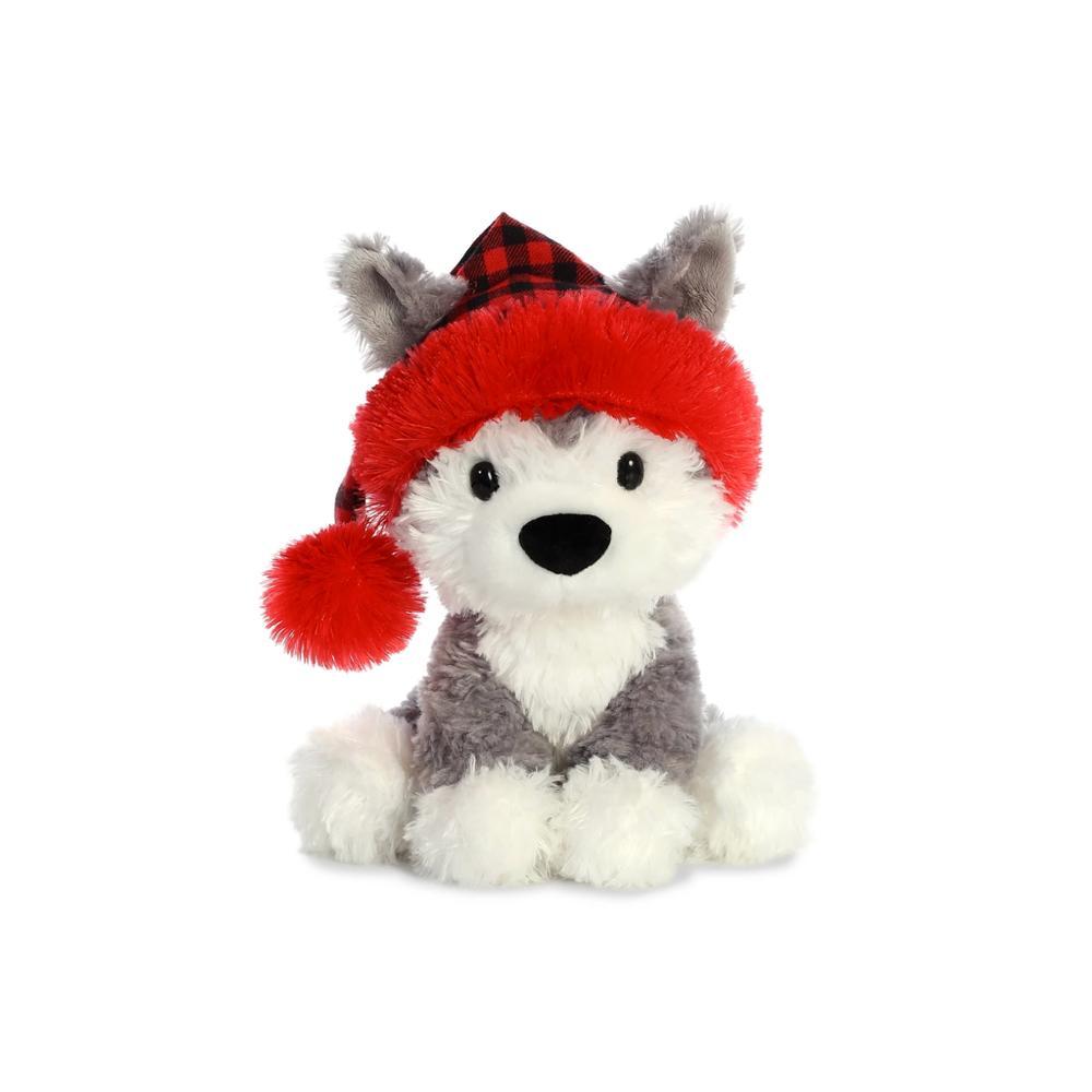 Aurora Holiday Husky Doggy Plush