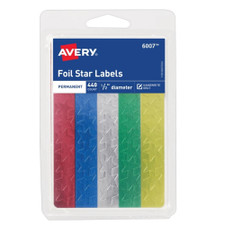 "Avery Assorted Colored 0.5"" Foil Stars 440 Count"