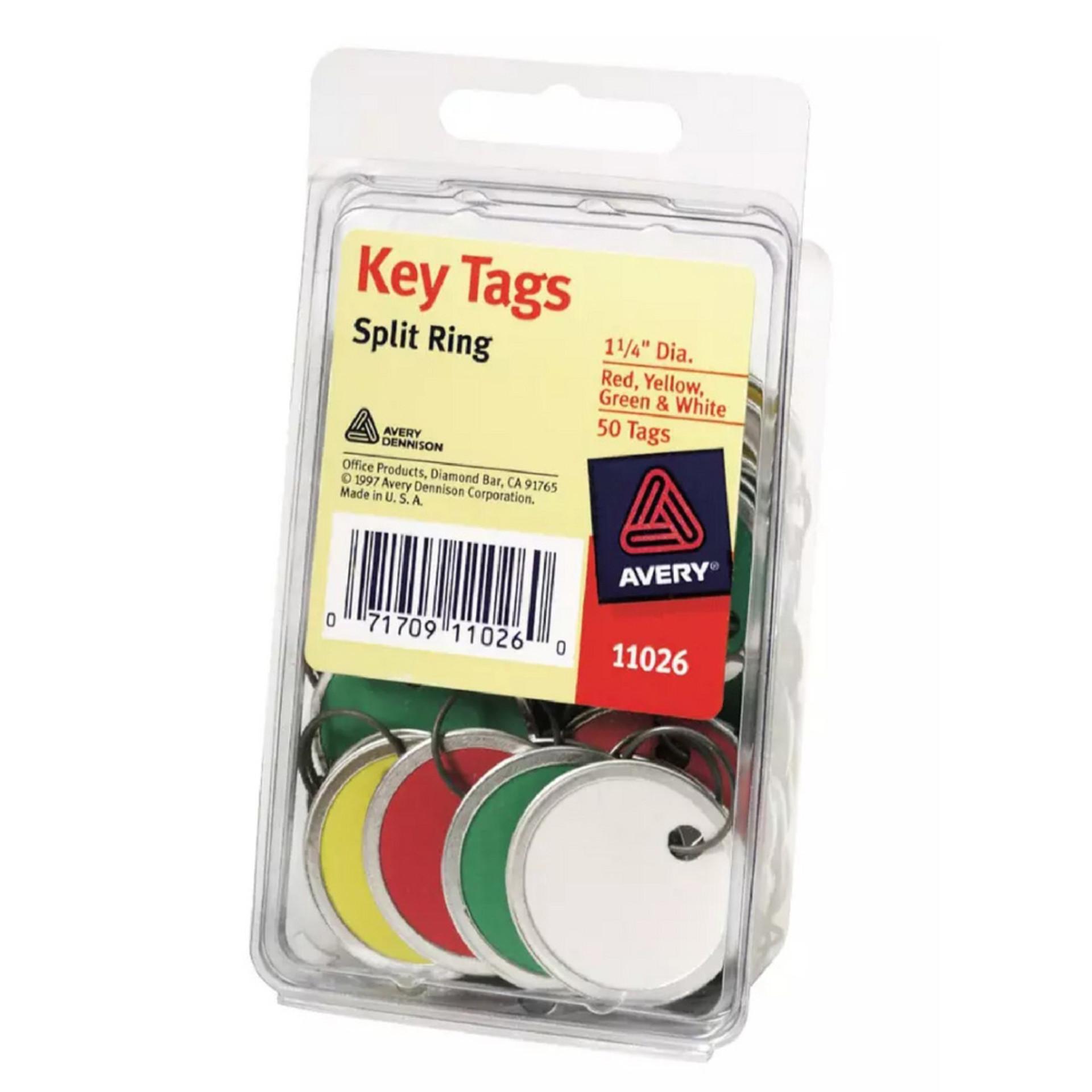 Avery Metal Rim Key Tags 50 Pack