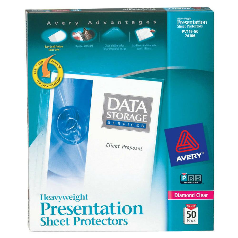 Avery Heavyweight Sheet Protectors 50-Pack