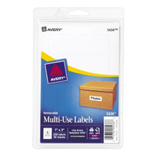 "Avery White Removable 1""x3"" Labels"