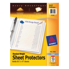 Avery Standard Weight Sheet Protectors 10 Count