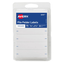 """Avery White 2-3/4""""x5/8"""" File Folder Labels 156 Count"""