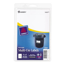 "Avery White Removable Multiuse 5""x3"" Labels 40 Count"