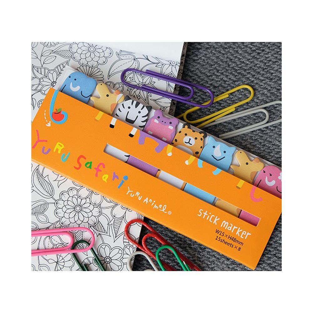 Mind Wave Yuru Safari Stick Marker Sticky Notes 120ct