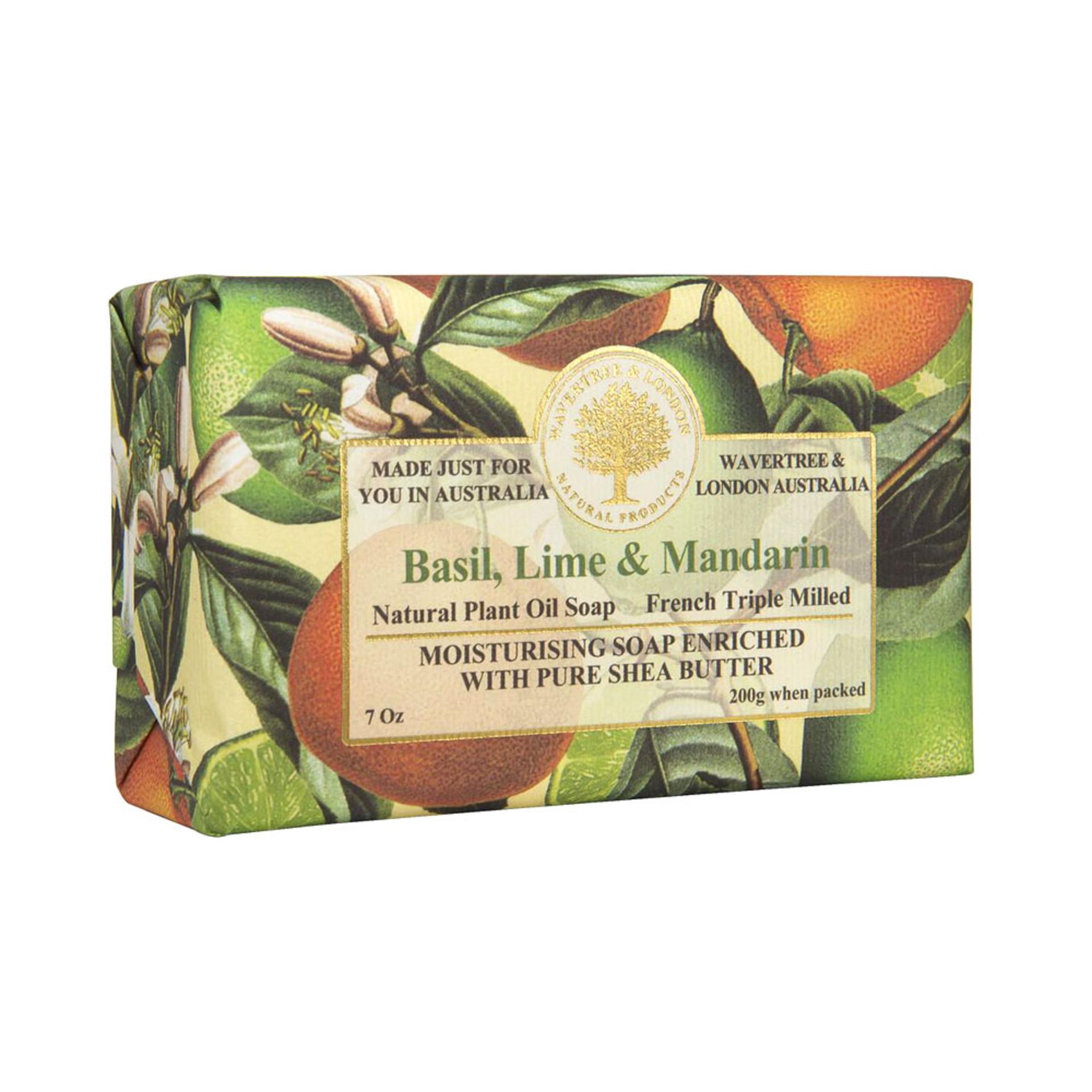 Basil Lime Mandarin Bar Soap