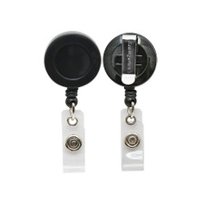 Sicurix Black Round Swivel Clip ID Badge Reel