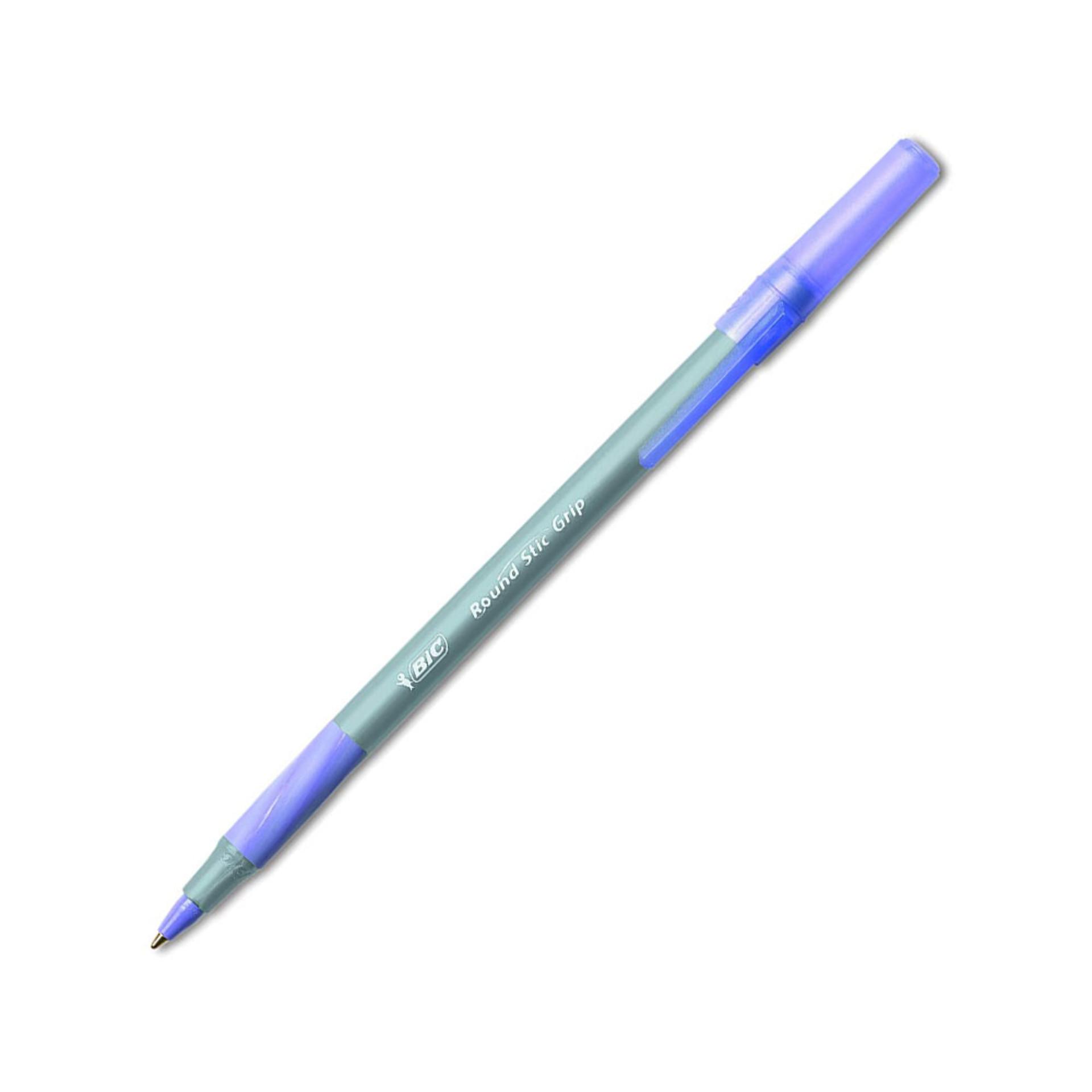 Bic Round Stic Grip Medium Point 1.2mm Ballpoint Pen – Purple