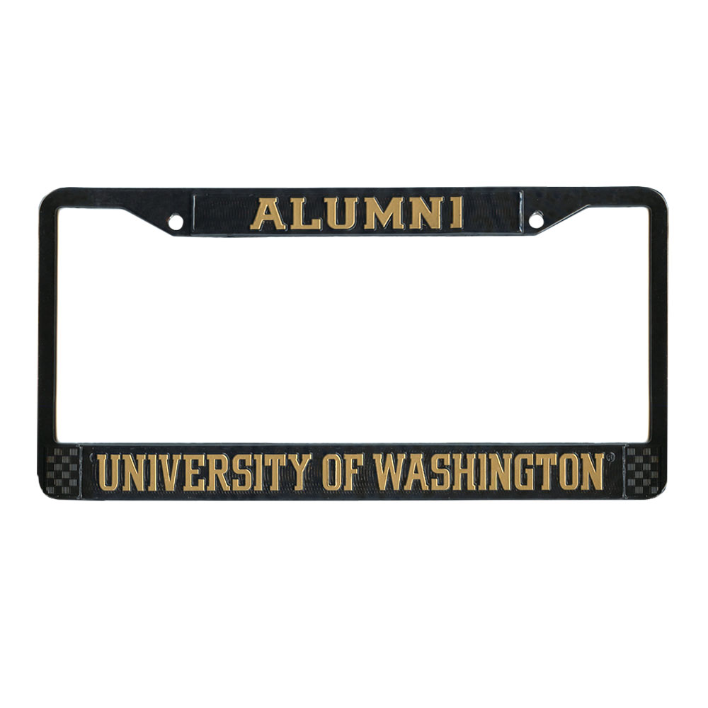 Black Alumni University of Washington Powder-Coated Licence Plate Frame