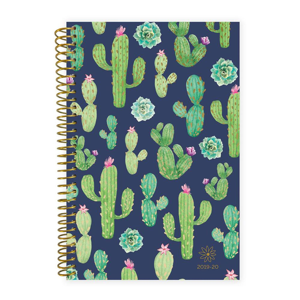 Bloom 2020 Navy Cacti Spiral Daily Planner