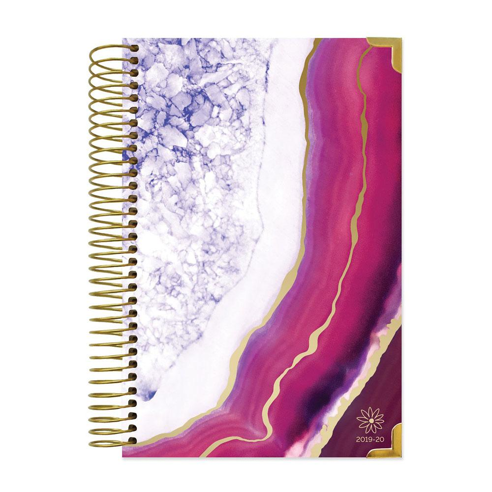 Bloom 2020 Purple Agate Spiral Daily Planner