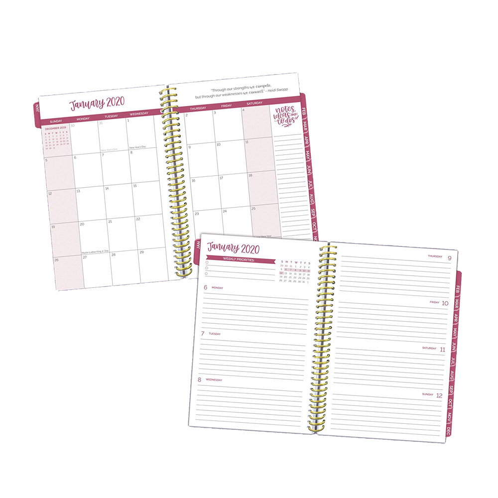 Bloom 2020 Purple Agate Daily Planner Pages