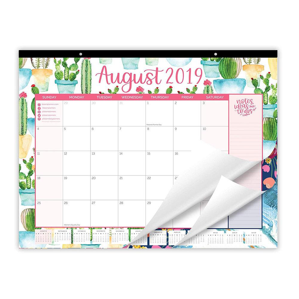 "Bloom 2020 Vintage Floral 16""x21"" Desk Wall Calendar"