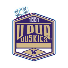 Blue 84 U Dub Huskies Allies Screen Sticker