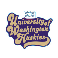 Blue 84 U of W Huskies Huffed Font Sticker