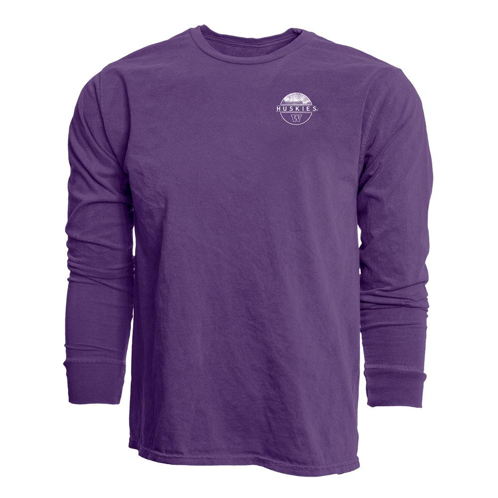 Blue 84 Unisex U of W Cherry Blossoms Long Sleeved Tee – Purple – Front