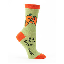 Blue Q Baby Carrot Women's Crew Socks