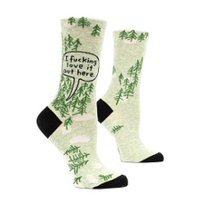 Blue Q Fucking Love It Woods Crew Socks – Side